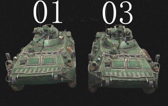 Скачать Ретекстуринг БТР-82, БТР-80 и БМП-3 by 未;少尉 — бесплатно