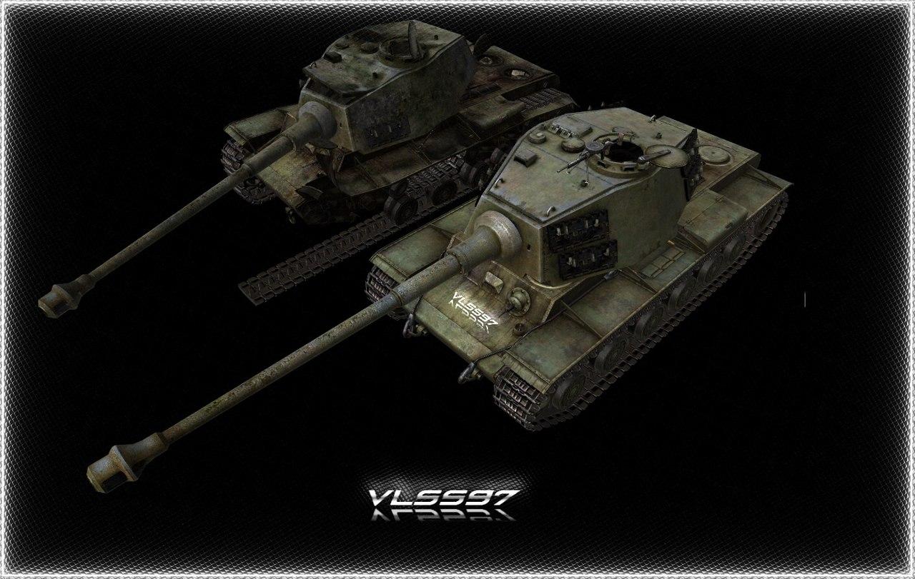 Скачать KV1-TIGER II (корпус КВ1, башня от КТ) — бесплатно