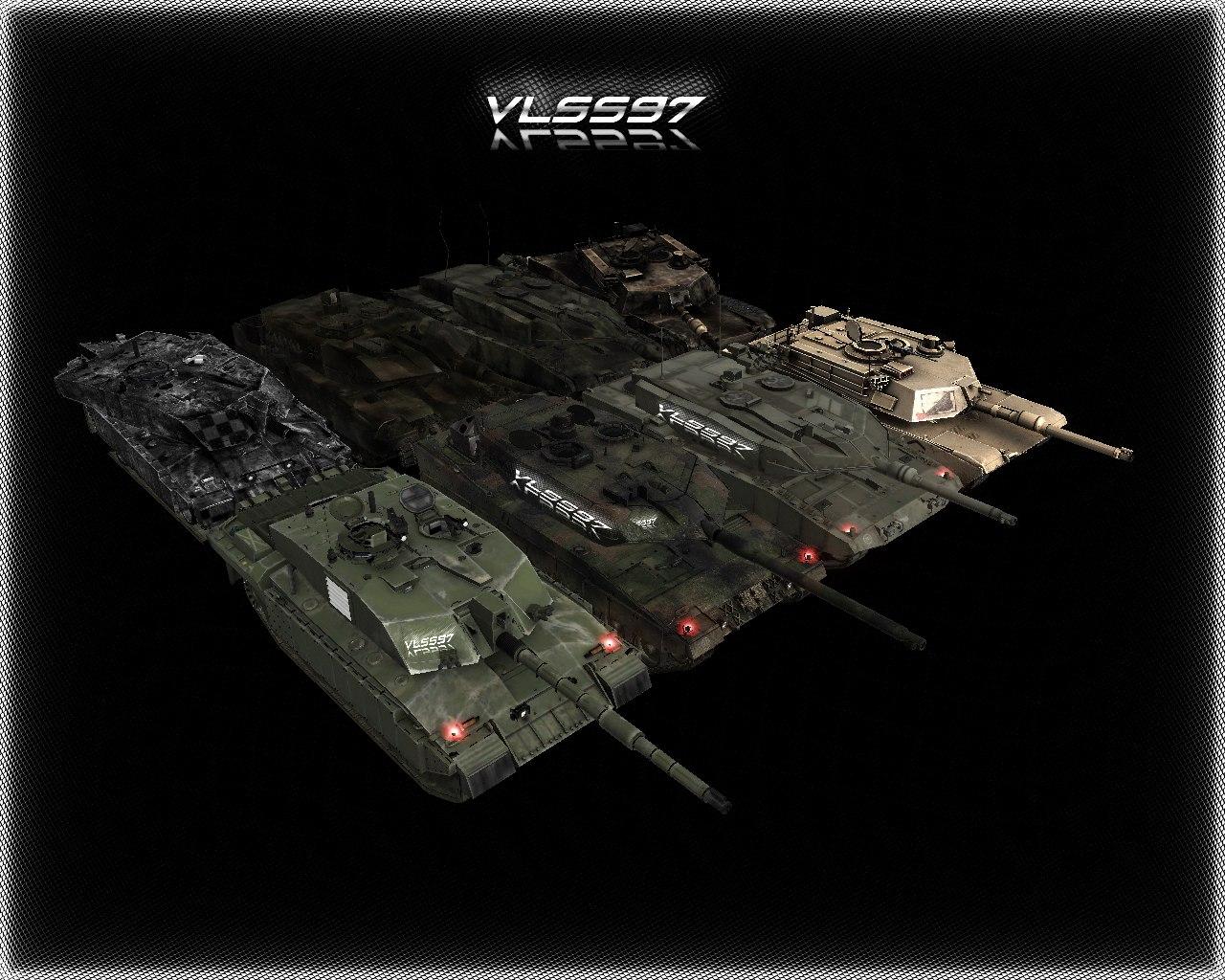 Скачать Challenger2, Leopard2a6, Leopard2a7, M1A2 — бесплатно