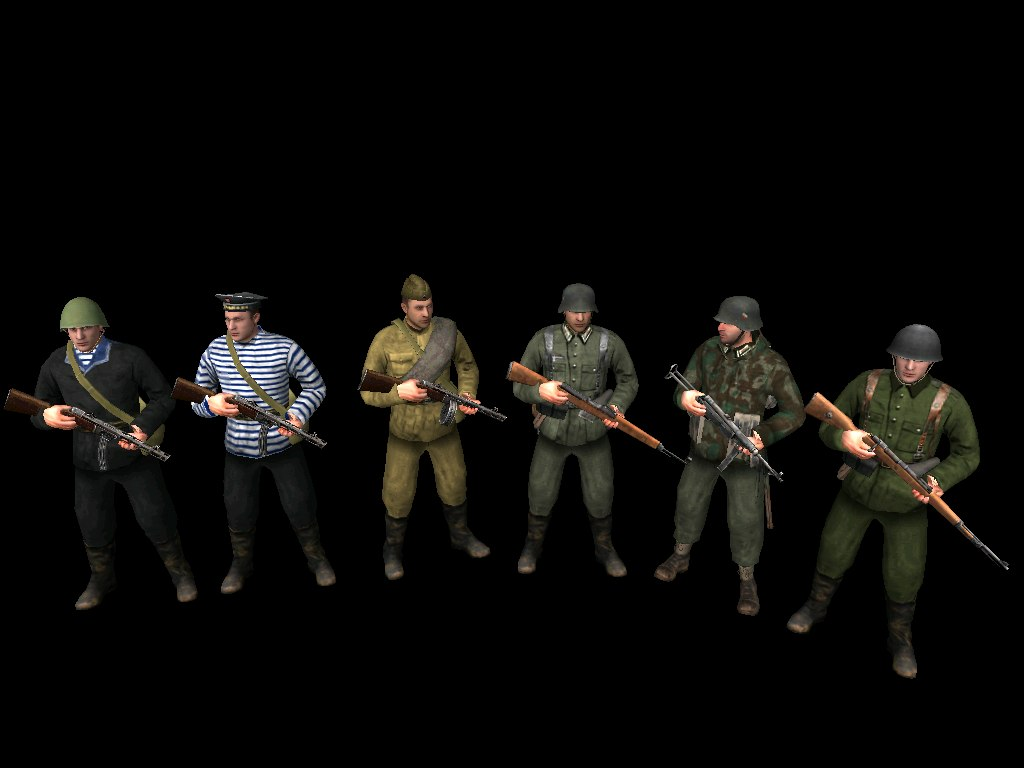 Скачать Советские моряки, пехотинец, два немца и словак — бесплатно