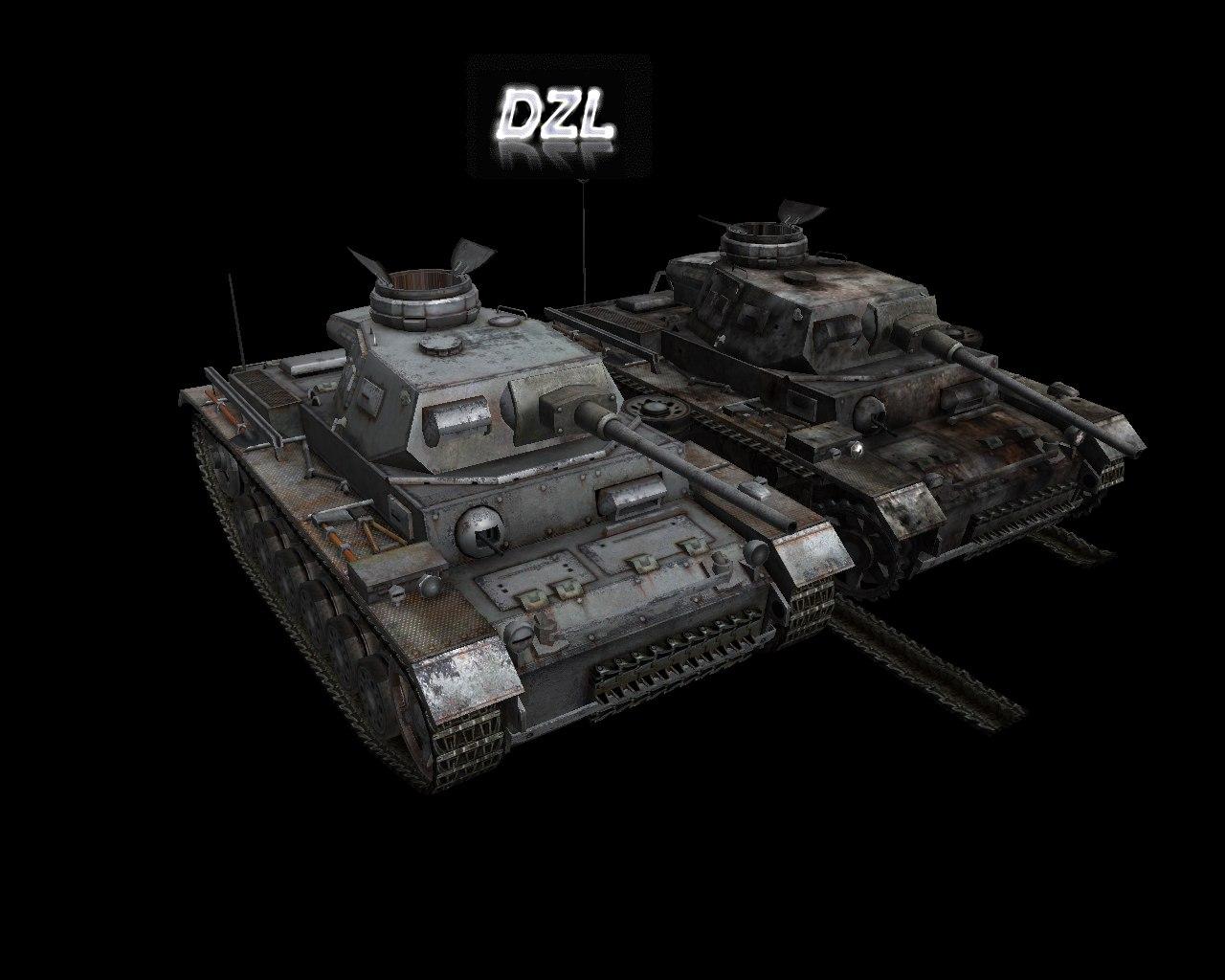 Скачать Pz3_GR - автор DZL(rip из WoT) — бесплатно